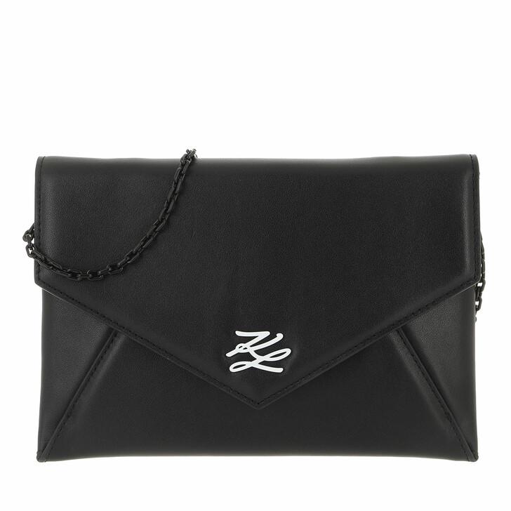bags, Karl Lagerfeld, Envelope Pocket  Black/White
