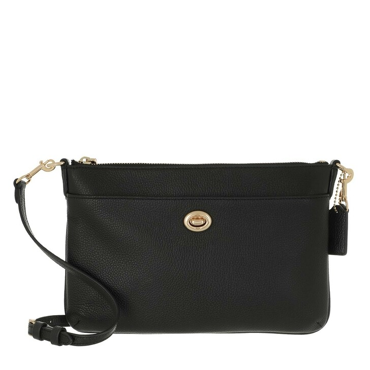 Handtasche, Coach, Excl Naw Polished Pebble Polly Crossbody Black