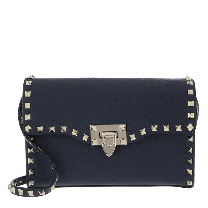bags, Valentino Garavani, Rockstud Small Crossbody Bag Marine