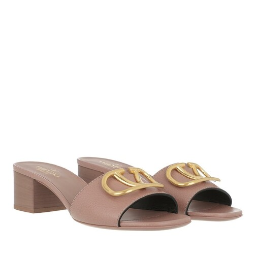 valentino garavani -  Slipper & Pantoletten - V Mules Leather - in rosa - für Damen