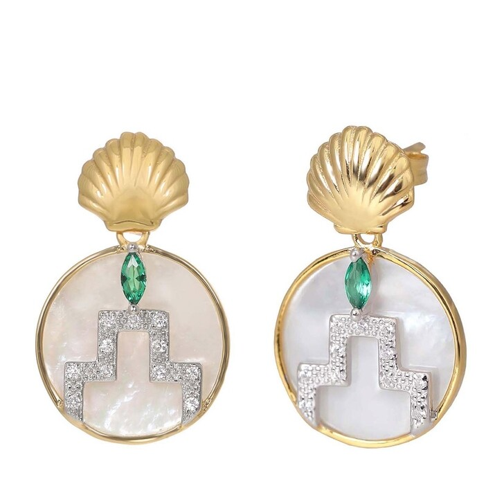 Ohrring, V by Laura Vann, Gina Earrings  Yellow Gold