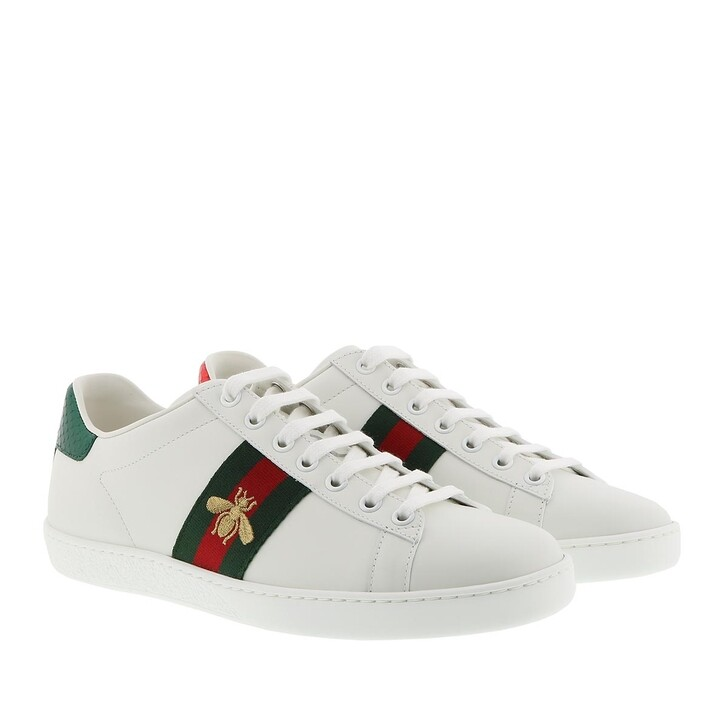 Schuh, Gucci, New Ace Sneakers Leather White