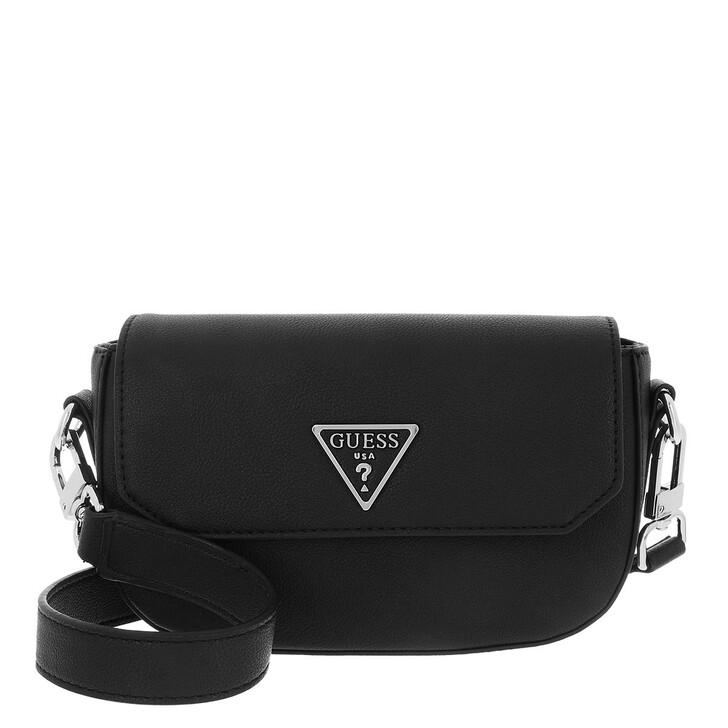 bags, Guess, Ambrose Mini Crossbody Flap Black