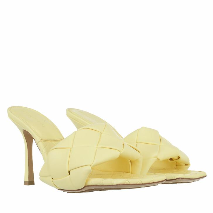 shoes, Bottega Veneta, The Lido Sandals Intrecciato Lemonade