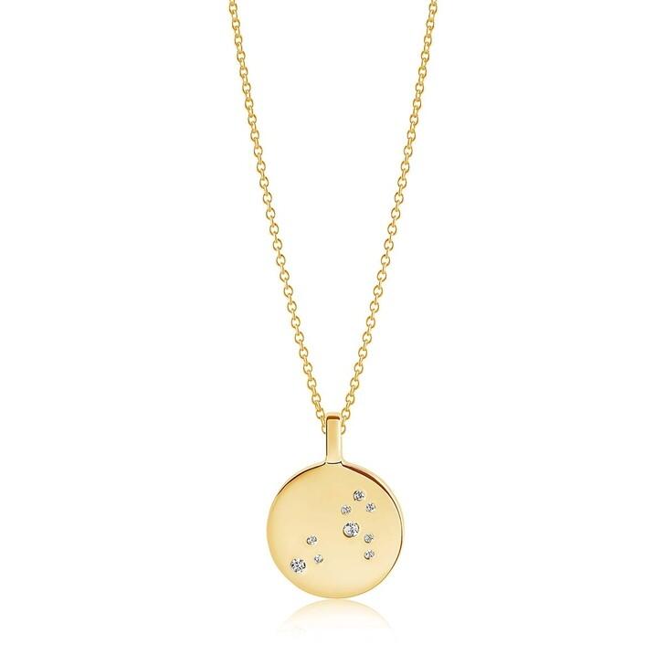 Kette, Sif Jakobs Jewellery, Zodiaco Leo Pendant White Zirconia 18K Gold Plated