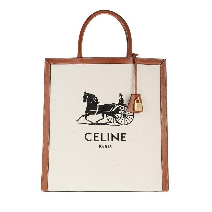 Handtasche, Celine, Large Cabas Vertical Tote Bag Natural/Tan