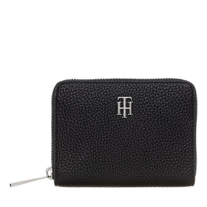Geldbörse, Tommy Hilfiger, TH Essence Medium Za Wallet Black