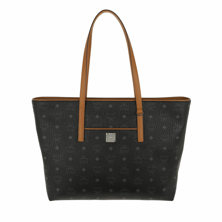 bags, MCM, New Anya Shopper Medium Black