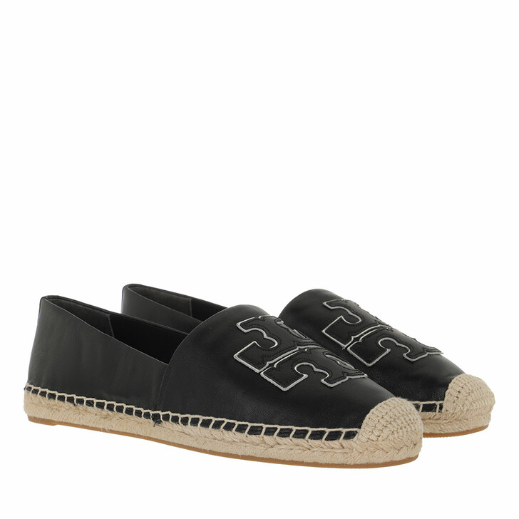 Schuh, Tory Burch, Ines Espadrille Perfect Black / Perfect Black / Silver
