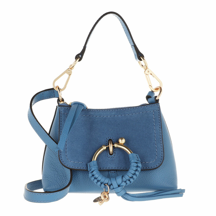 bags, See By Chloé, Joan Crossbody Bag Mini Moonlight Blue