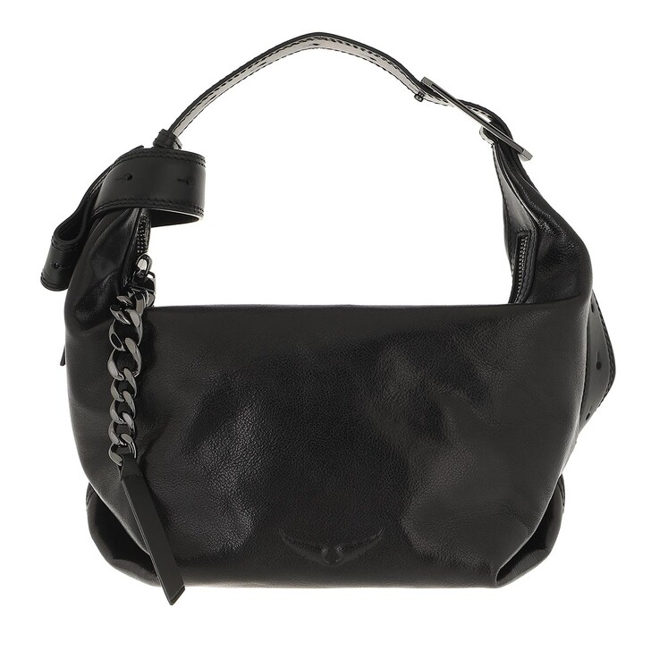 bags, Zadig & Voltaire, New Bag Vegetable Leather Black