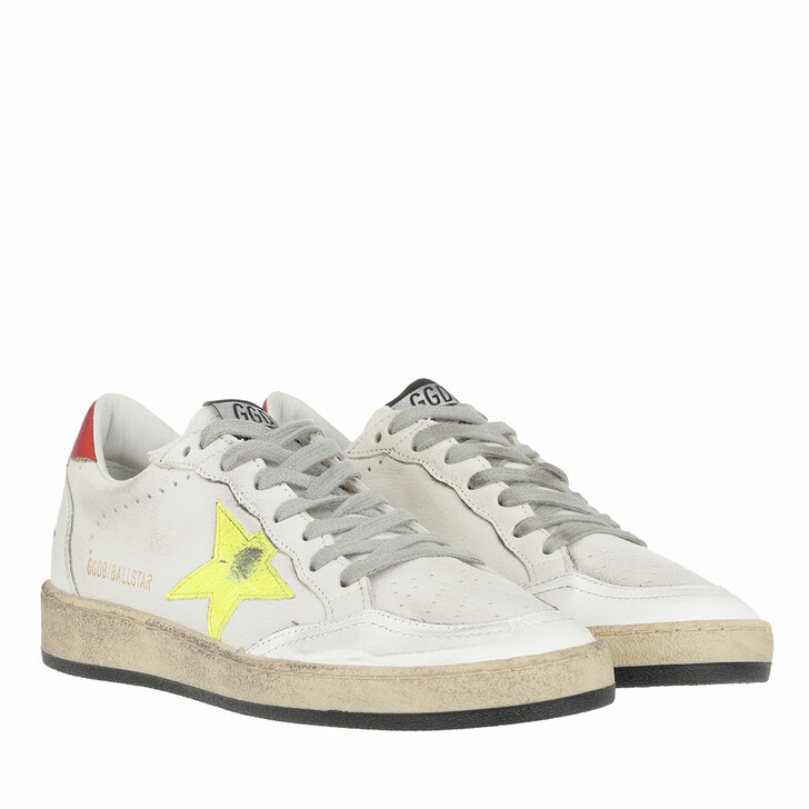 Schuh, Golden Goose, Ball Star Sneakers White/Yellow