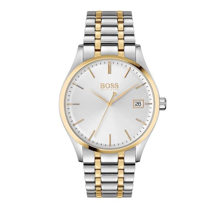 watches, Boss, Quarz watch Gold & Silver