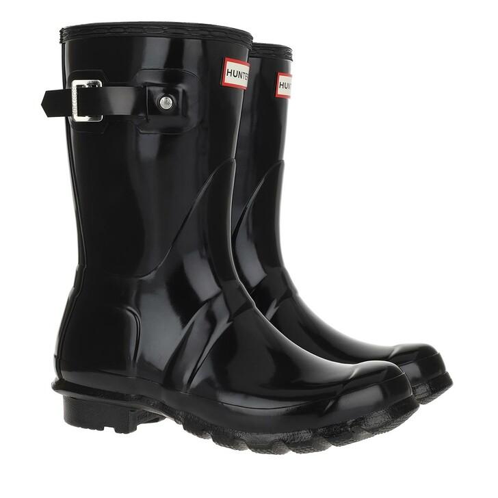 shoes, Hunter, womens original short gloss black