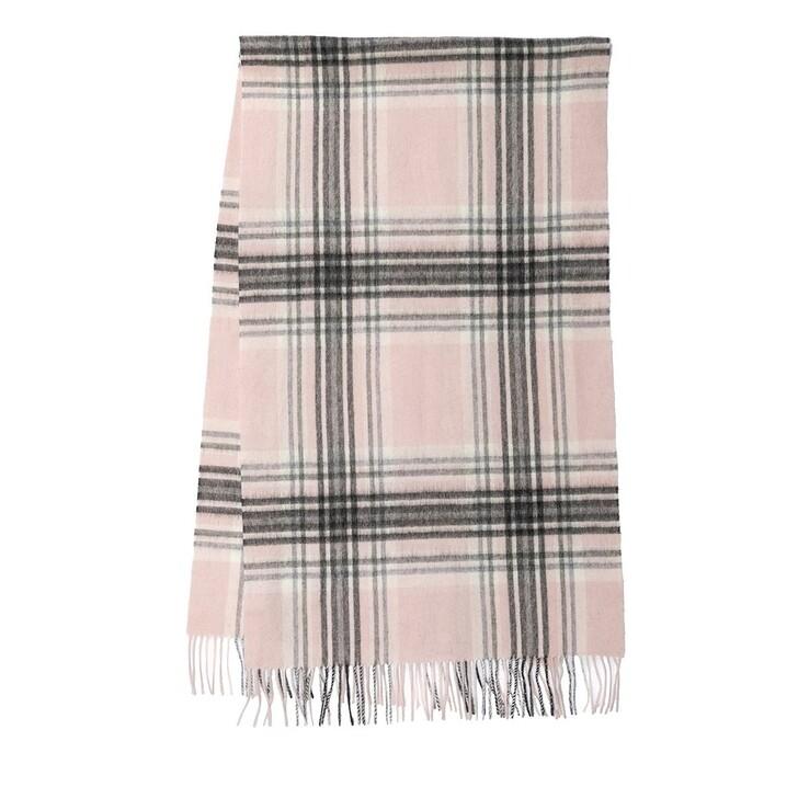 scarves, Barbour, Lonnen Check Wrap Pink/Grey