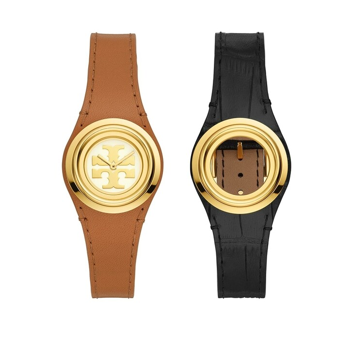 Uhr, Tory Burch, Miller Watch and Strap Gift Set Brown Black