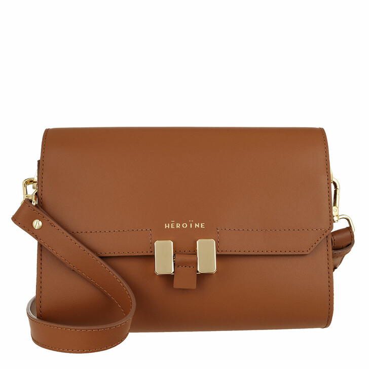 bags, Maison Hēroïne, Lilia Tablet Mini Crossbody Terry Cognac