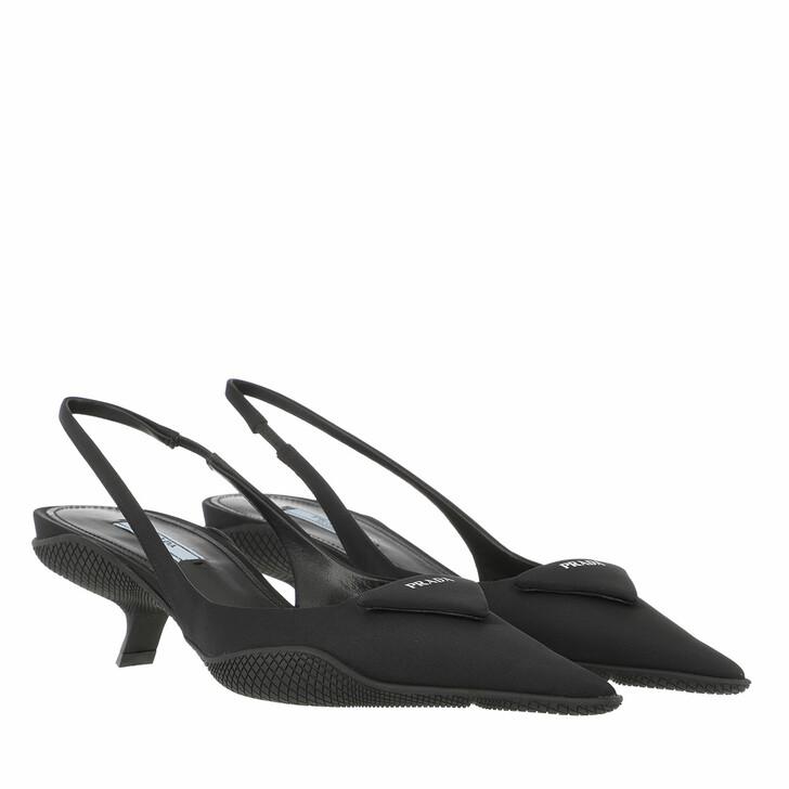 Schuh, Prada, Slingback Pumps Black