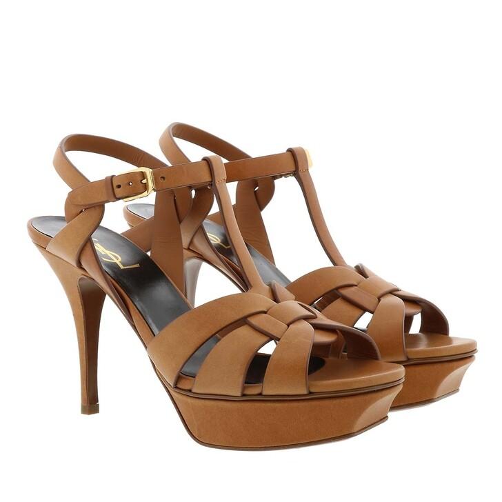 Schuh, Saint Laurent, Tribute 75 Sandal Leather Amber