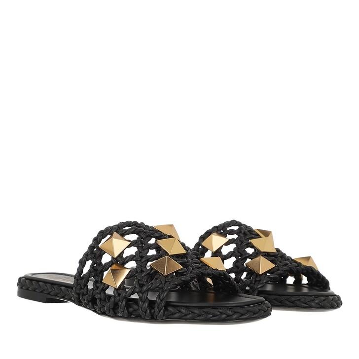 Schuh, Valentino Garavani, Slide Sandals Black