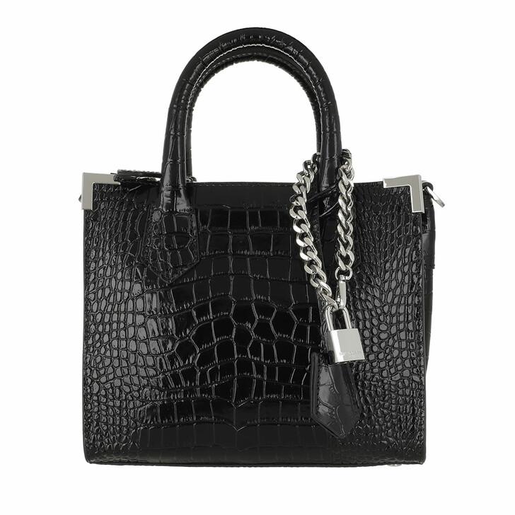 bags, The Kooples, Medium Bag Ming Croco Black