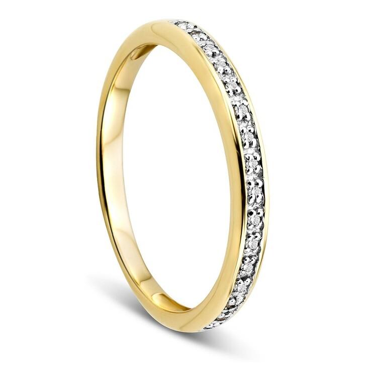 rings, DIAMADA, 14KT 0,054ct Diamond Ring Yellow Gold