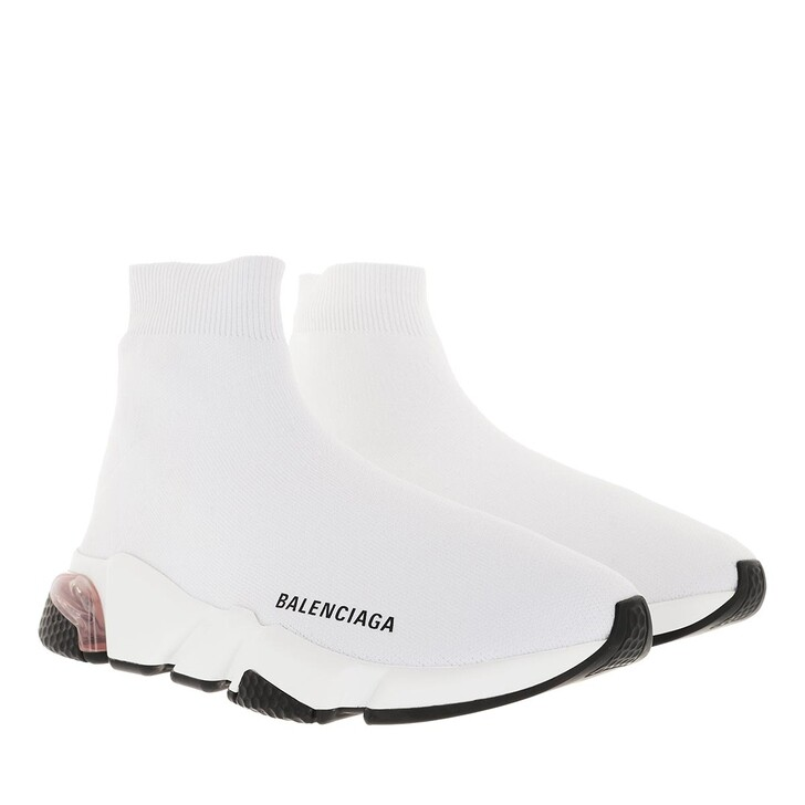 shoes, Balenciaga, Speed Sneakers Clearsole White
