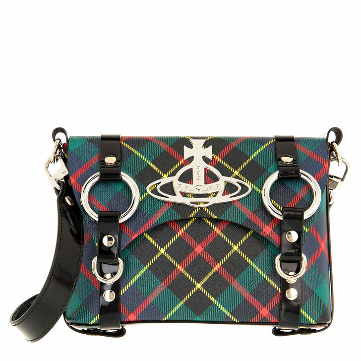 Handtasche, Vivienne Westwood, Betty Mini Satchel Hunting Tartan