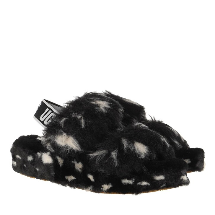 Schuh, UGG, Oh Yeah Spots Slipper Black