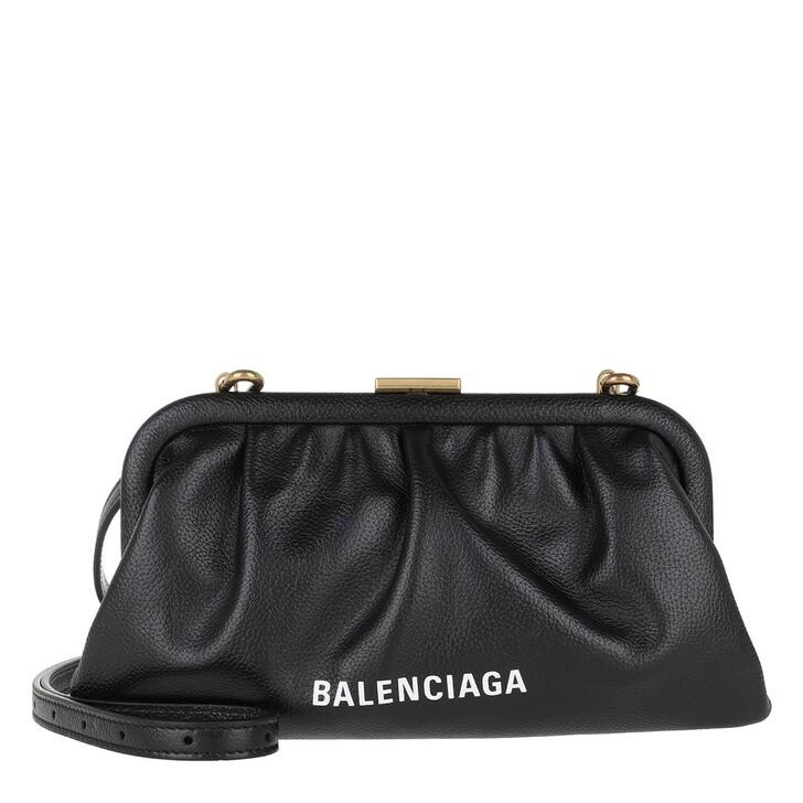 bags, Balenciaga, Cloud XS Clutch Grained Black