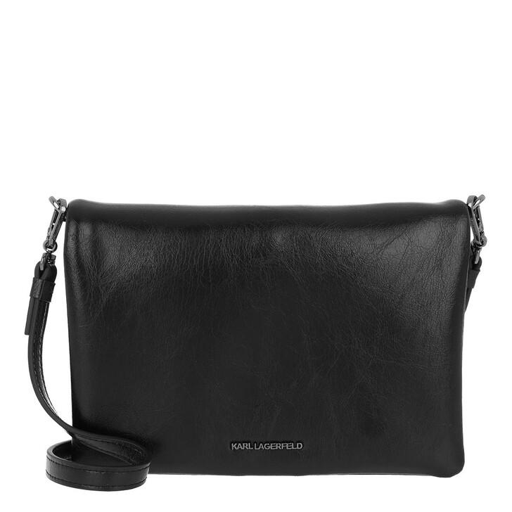 Handtasche, Karl Lagerfeld, Bauhaus Shoulder Pouch Black White