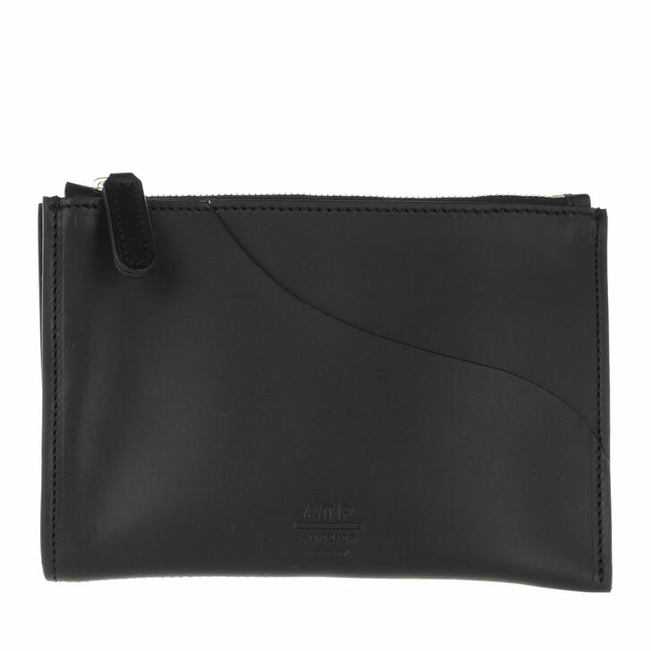 Handtasche, ATP Atelier, Tino Vacchetta Clutch Black