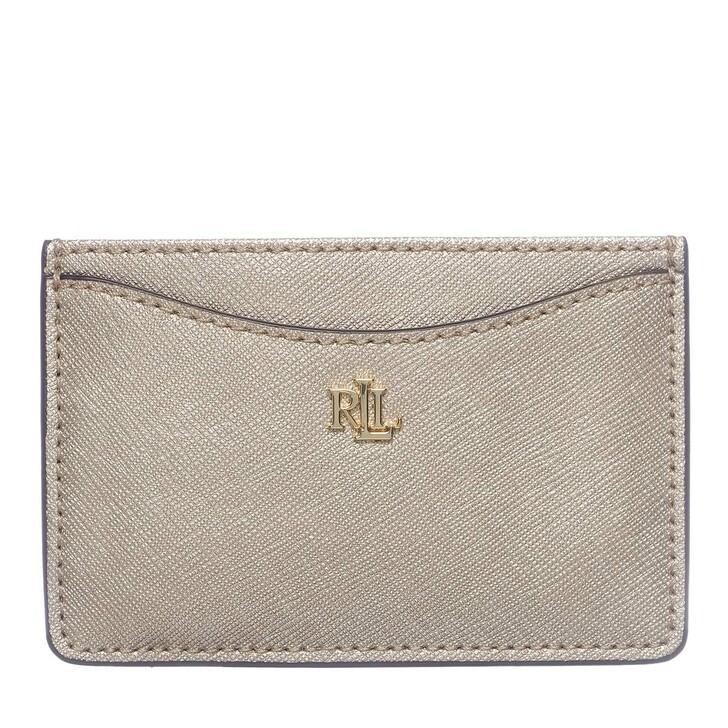 Geldbörse, Lauren Ralph Lauren, Slim Card Case Medium Warm Gold