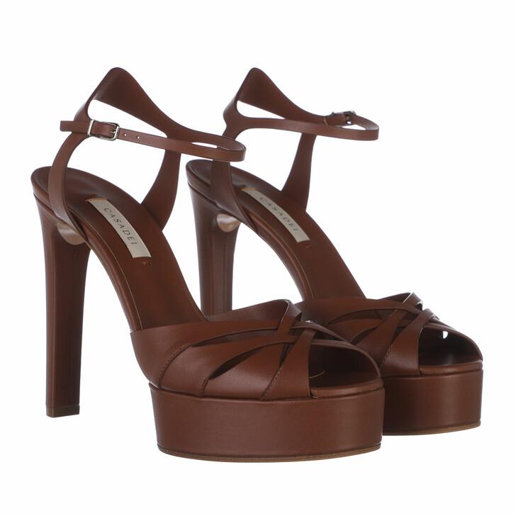 shoes, Casadei, SANDALO FLORENCE BROWN