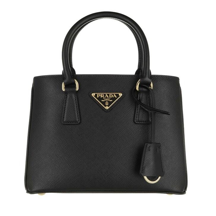 bags, Prada, Mini Galleria Tote Bag Leather Black