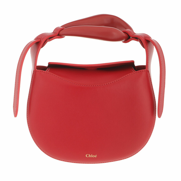 bags, Chloé, Small Kiss Handle Bag Red Crush