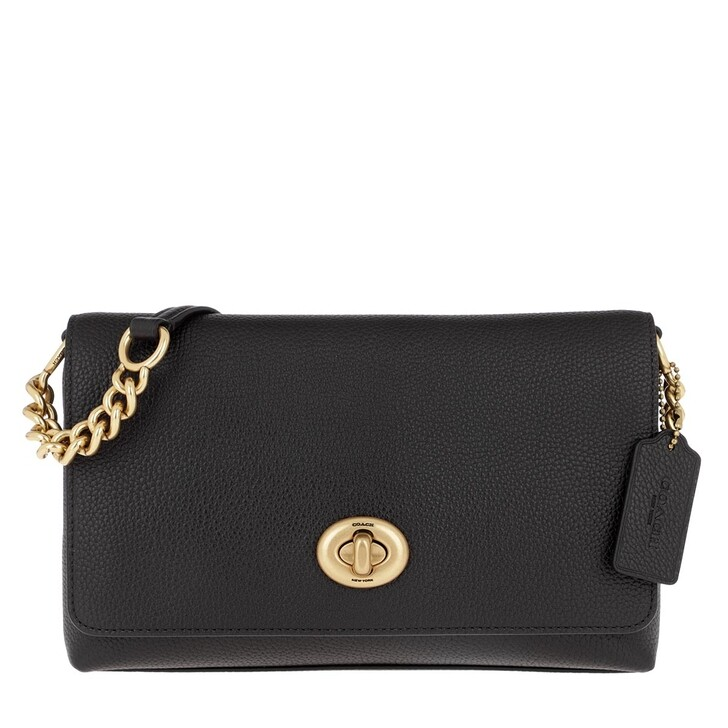 Handtasche, Coach, Polished Pebble Leather Crosstown Crossbody B4/Black