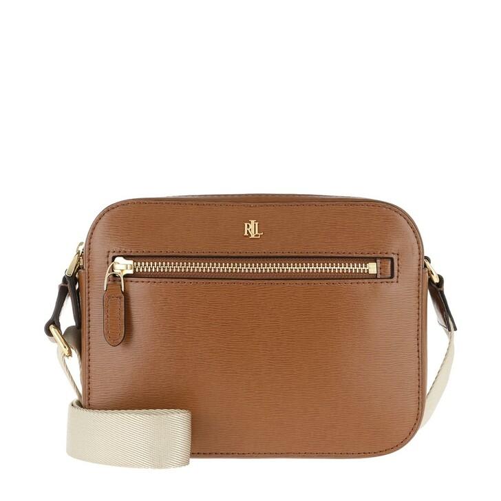 Handtasche, Lauren Ralph Lauren, Hayes Crossbody Bag Saffiano Lauren Tan