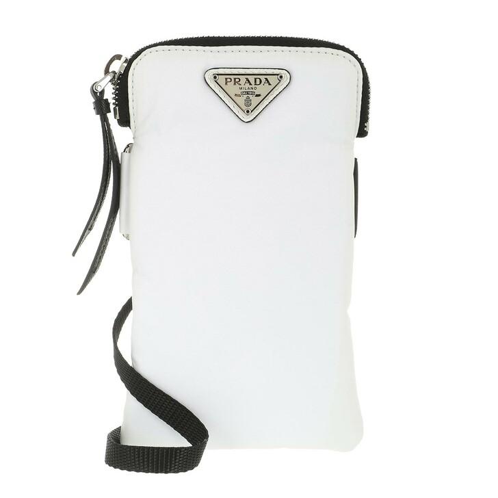 Smartphone/Tablet case (Case), Prada, Logo Plaque Phone Pouch White
