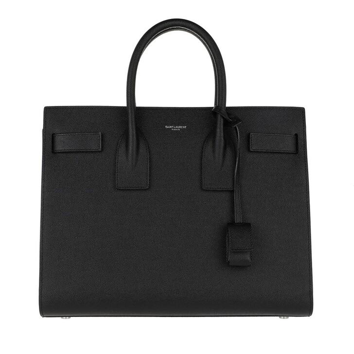 Handtasche, Saint Laurent, Classic Sac De Jour Small Grain De Poudre Leather Black