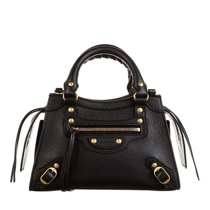 Handtasche, Balenciaga, Neo Classic Mini Top Handle Bag Grained Calfskin Black
