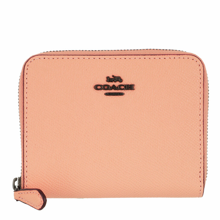Geldbörse, Coach, Crossgrain Leather Small Zip Around Wallet Faded Blush