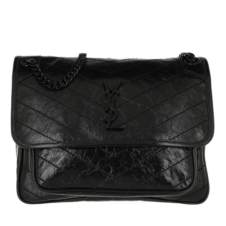 Handtasche, Saint Laurent, Niki Shoulder Bag Leather Black/Black