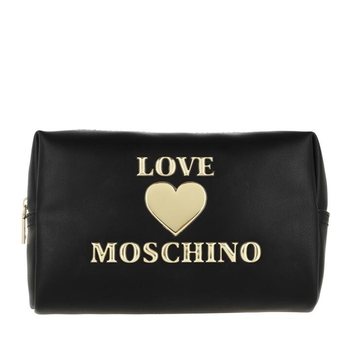 necessaires, Love Moschino, Makeup Bag PU Nero