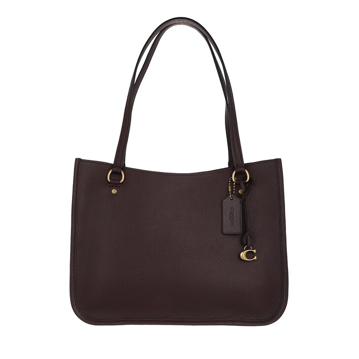 Handtasche, Coach, Polished Pebble Leather Tyler Carryall Oxblood