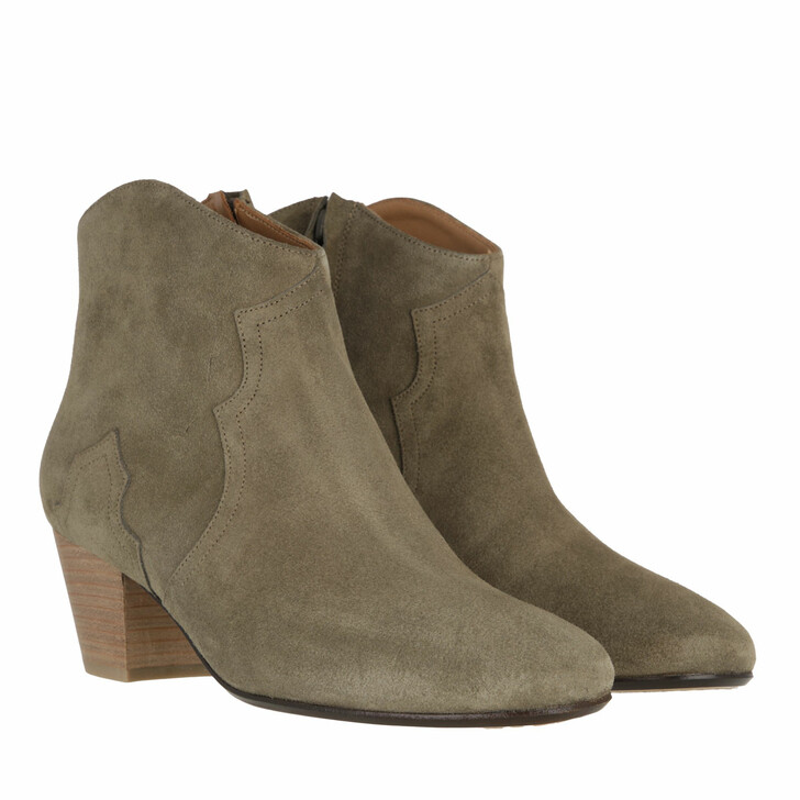shoes, Isabel Marant, Dicker Ankle Boots Taupe