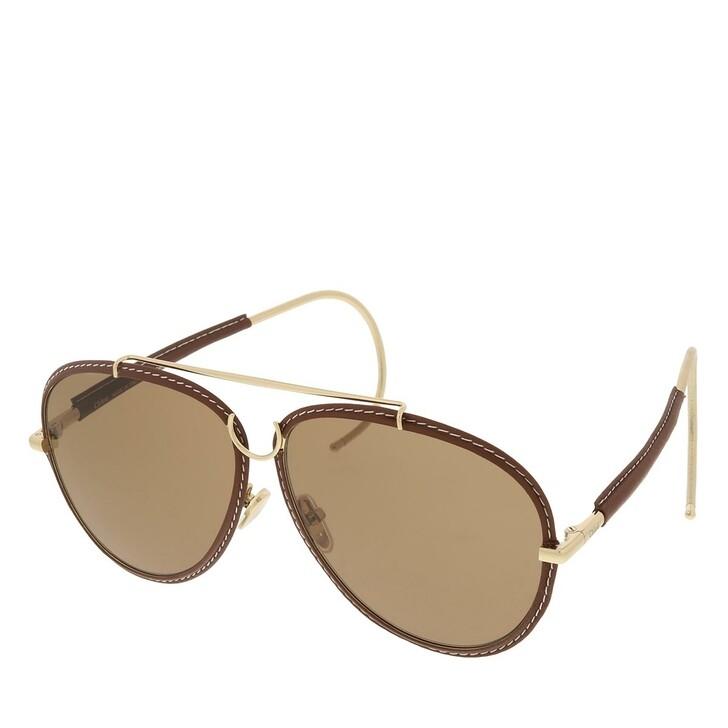sunglasses, Chloé, CH0080S-004 62 Sunglass Woman Metal Gold-Gold-Brown