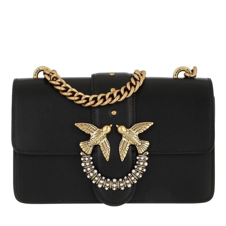 bags, Pinko, Love Mini Icon Simply Je  Cl V Nero Limousine