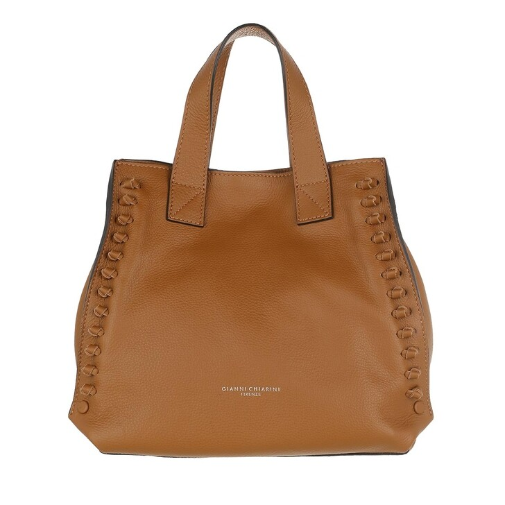 Handtasche, Gianni Chiarini, Two Handle Hobo Bag Leather Cuoio