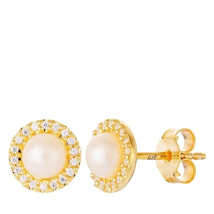 earrings, BELORO, 375 Earring Stud Yellow Gold